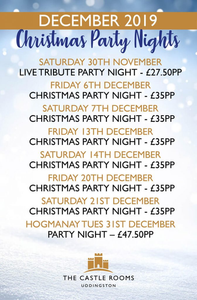 Castle Rooms Christmas Party Nights